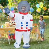 Funnyinflatable Halloween Space Suit Inflatable Costume Astronauts Cosplay Party Toy Cartoon People Fancy Dress Full Body Blow Up Suit For Adults