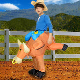 Funnyinflatable Halloween Bull Ride On Inflatable Costume Cosplay Party Toy Blow Up Suit Fancy Dress Suit For Adult/kid (With Hat)