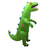 Funnyinflatable Halloween Green T-Rex Dinosaur Inflatable Costume Full Body Suit Blow Up Tyrannosaurus Rex Suit Cosplay Party Toy For Adult