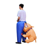 Funnyinflatable Halloween Dog Biting Butt Inflatable Costume Cosplay Party Toy Funny Animal Blow up Suit For Adult
