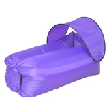 Funnyinflatable Lazy Air Sofa Inflatable Sunshade Folding Ultralight Outdoor Camping Sleeping Multicolor Bag Sofa Air Bed For Swim Camping Beach Hiking Park Backyard