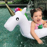 Funnyinflatable Baby Unicorn Float Inflatable Colorful Flamingo Swim Ring Pool Floaties Infant Lifebuoy with Handles Water Fun Toy For Kids