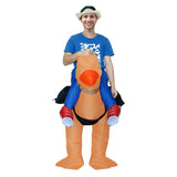 Funnyinflatable Halloween Ostrich Ride On Inflatable Costume Cosplay Party Toy Animal Blow Up Suit Fancy Dress For Adult/Kid