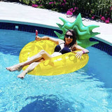 Funnyinflatable Giant Blow Up Pineapple Pool Float Summer Swimming Ring Inflatable Fruit Raft Outdoor Beach Party LifebuoyPlay Water Fun Toy for Adults