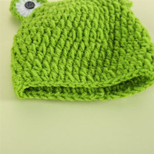 Infant Newborn Photography Props Cute Frog Crochet Outfits Children's Cap Girl Boy Hat Pants Baby Hat Photo Props Accessories