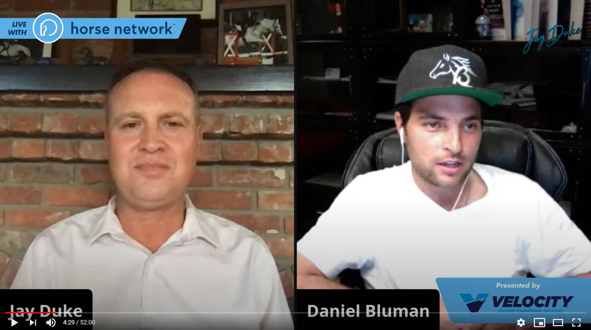 The Horse Network's Jay Duke Show, hosts Olympic show jumper Daniel Bluman!
