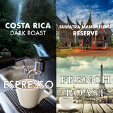 Dark Roast Coffee Bundle, 4 Pack - Volcanica Coffee
