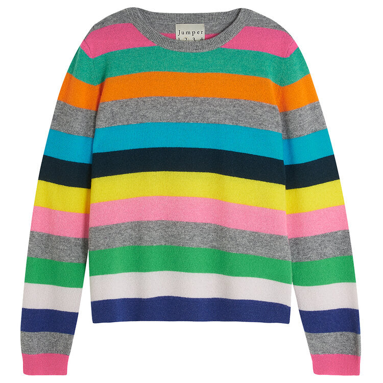 Multi Stripe Cashmere Jumper
