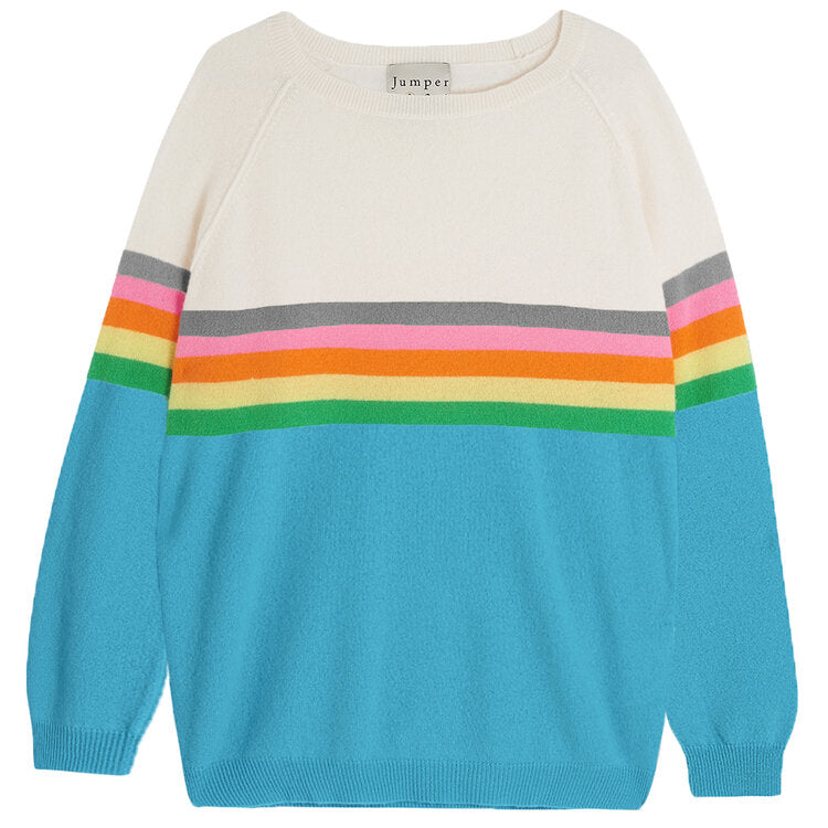 Rainbow Stripe Cashmere Jumper