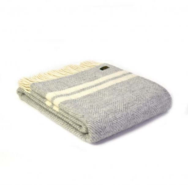 Tweedmills Fishbone 2 Stripe Throw