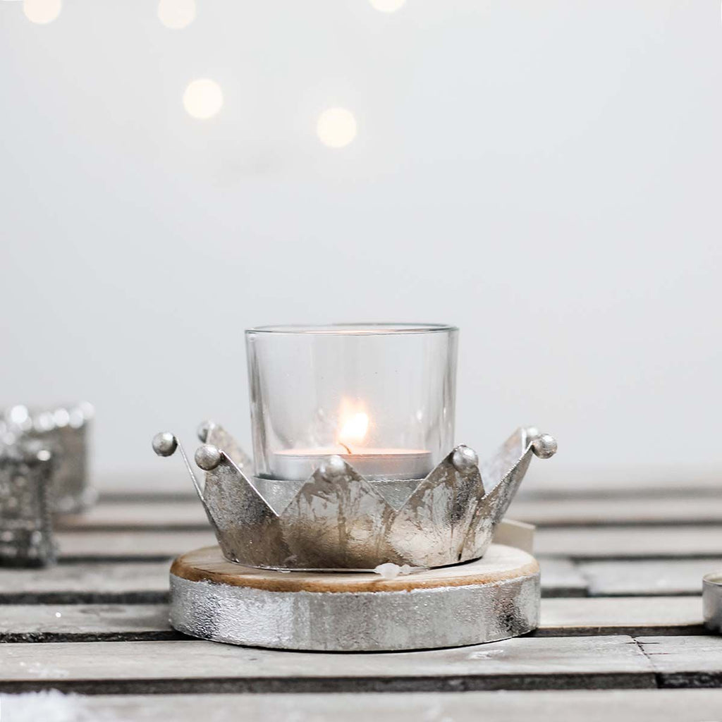 Metal Crown Tealight Holder
