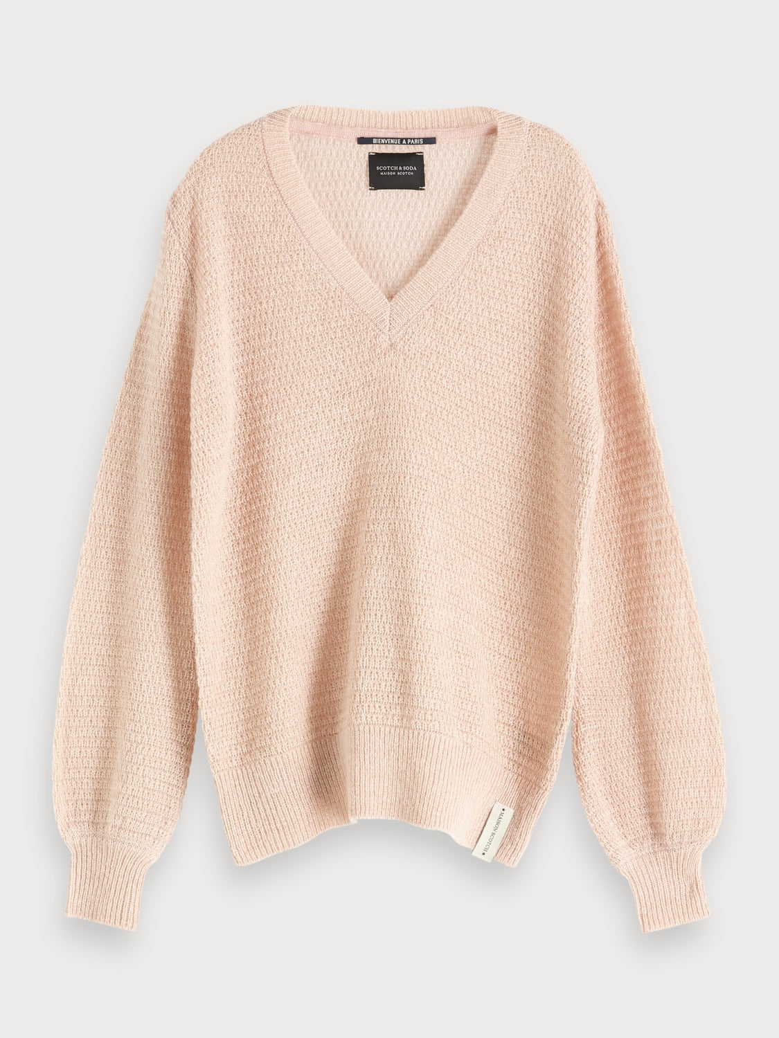 Scotch & Soda Bienvenue Wool Blend V Neck Pullover