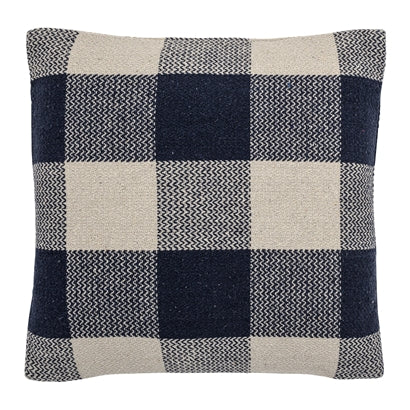 Checked Recycled Cotton Cushion