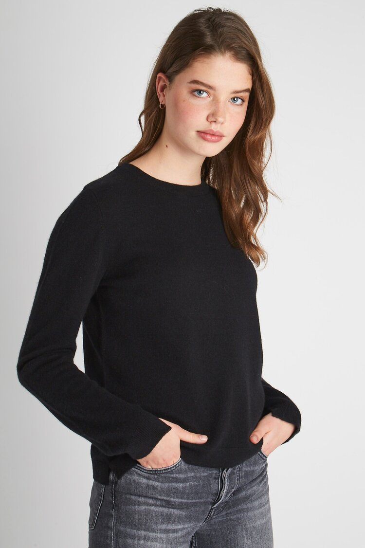 Split Crew Neck Cashmere