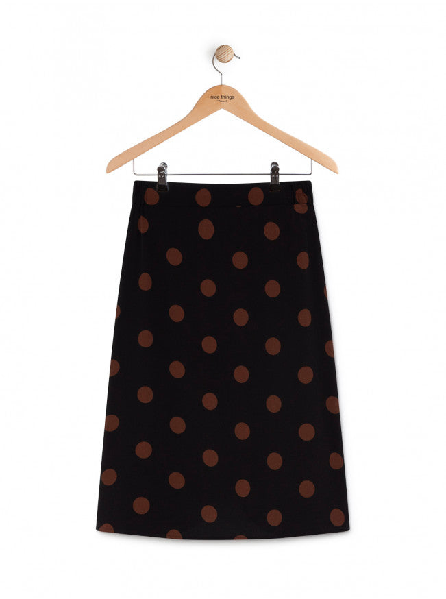 Nice Things Big polka dot skirt