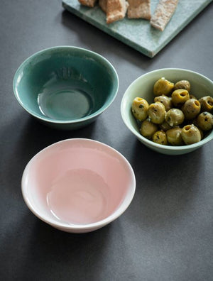 Set of 3 Ceramic Nibble Bowls