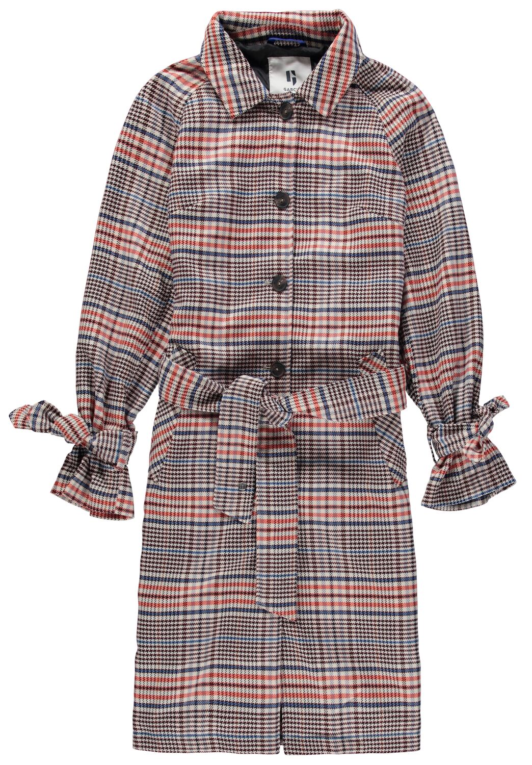 Multicolor Womens Checkered Coat by Garcia