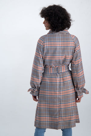 Multicolor Checkered Coat