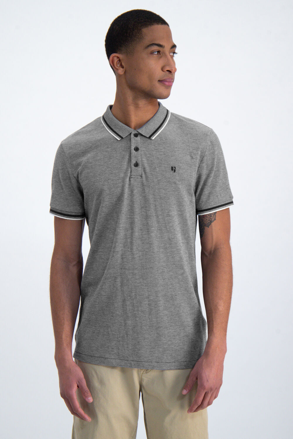 Garcia Mens Contrast Polo Blue