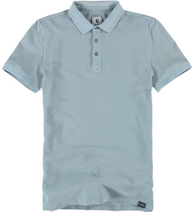 Garcia Mens Polo Mineral Blue