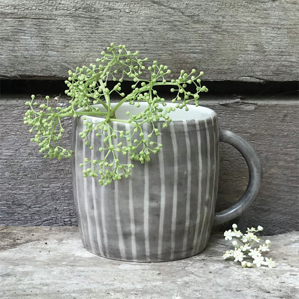 Rustic Mug Painted Wash Stripe