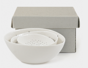 Boxed Set of 3 Porcelain Bowls