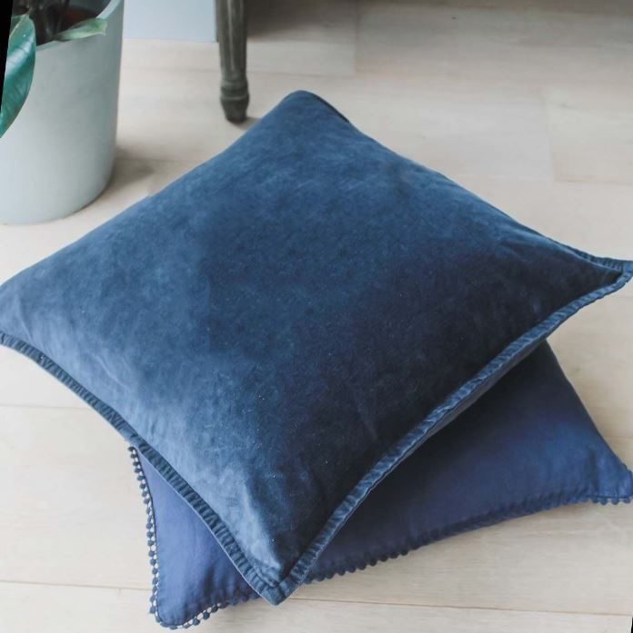 Stonewash Velvet Cushion