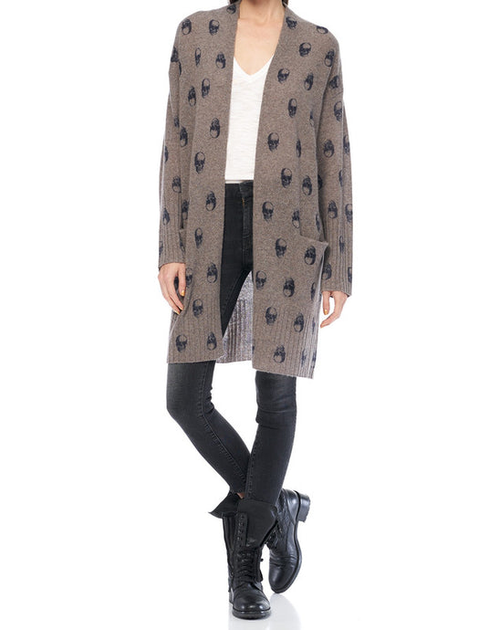 Hallie Cashmere Skull Cardigan - The Quarterly