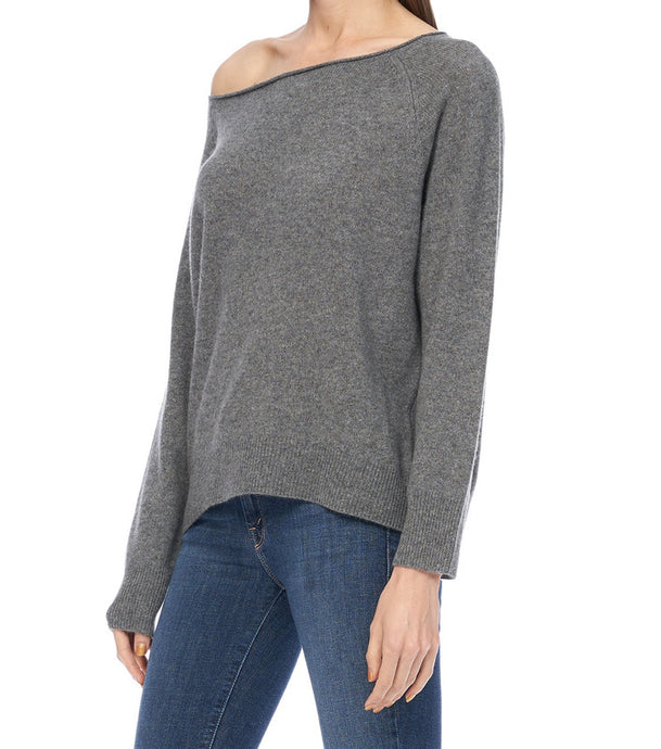 Kacey Cashmere Off Shoulder Sweater - The Quarterly