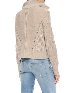 Lyndsay 1/4 Zip Cable Knit Sweater - The Quarterly