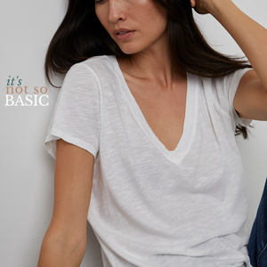 Jill City Slub V-Neck Tee - The Quarterly