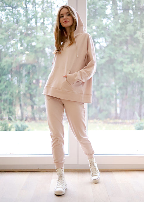 Jogger & Hoodie Set Rose Taupe - The Quarterly