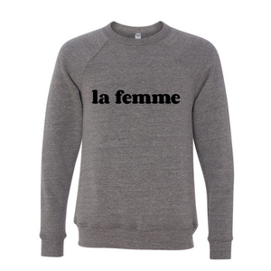 La Femme Flocked Sweatshirt - The Quarterly