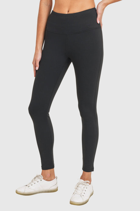 Essential High Waisted Thermal Lined Basic Legging - The Quarterly
