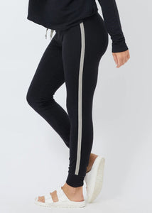 Skinny Jogger w/ Chevron Trim - The Quarterly