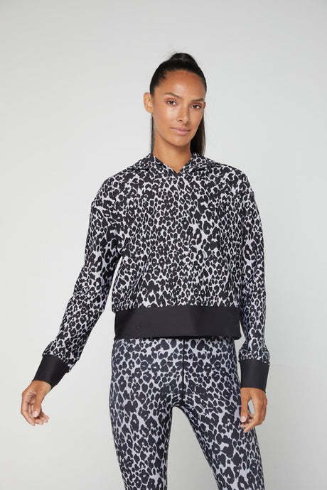 Leopard Fast Cropped Hoodie - The Quarterly