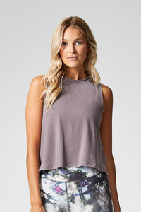 Mika Crop Tank Mink - The Quarterly