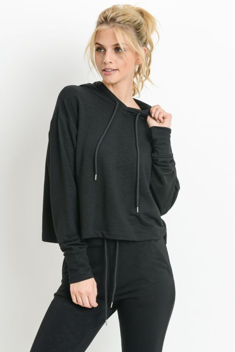 Cropped Boxy Hoodie - The Quarterly