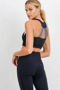 Striped Racerback Bra - The Quarterly