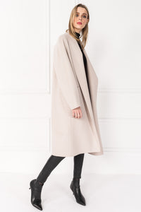 Thara Wool Coat Dove Grey - The Quarterly