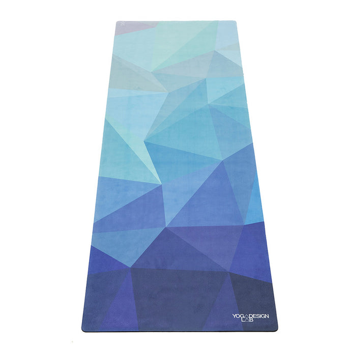 Commuter Yoga Mat Geo Blue 1.5MM - The Quarterly