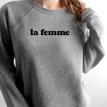 Load image into Gallery viewer, La Femme Flocked Sweatshirt - The Quarterly