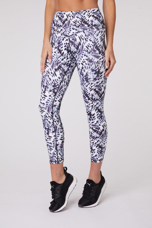 Open Highlands Butterfly Print 3/4 Legging - The Quarterly