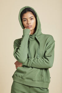 Organic Fleece Hoodie Clover - The Quarterly