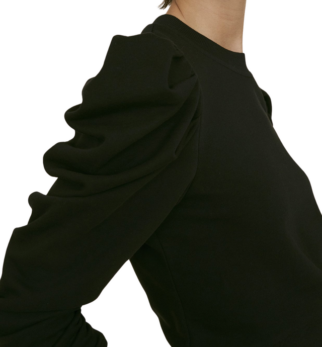 The Puff Sleeve Sweatshirt Black - The Quarterly