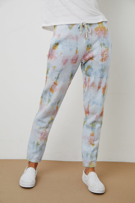 Hallie Fleece Tie Dye Sweatpant - The Quarterly