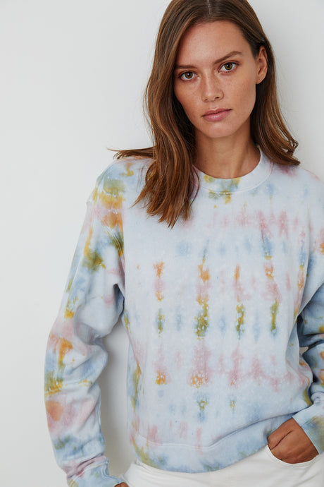 Jody Fleece Tie Dye Sweatshirt - The Quarterly