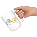 "Holiday ""ILY Snowflake"" Ceramic ASL Coffee Mug"