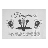 "ASL Merchandise ""Happiness is Homemade"" Glass Cutting Board"