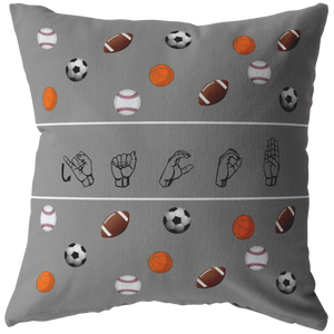 "ASL Home Decor ""Custom Sports"" ASL Throw Pillow - Multiple Sizes"